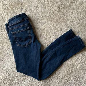 American Eagle Skinny Double Button Dark wash jean